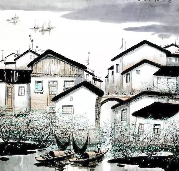 田园水墨画中国风微信公众号文章模板