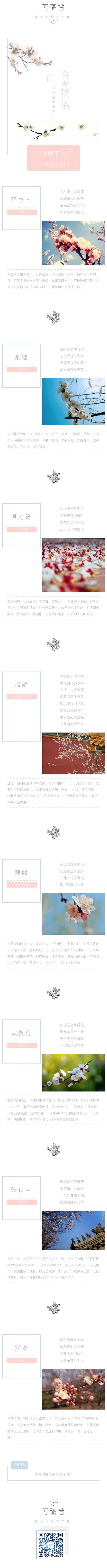 粉红色桃色诗词名言语录清新简约微信图文模板
