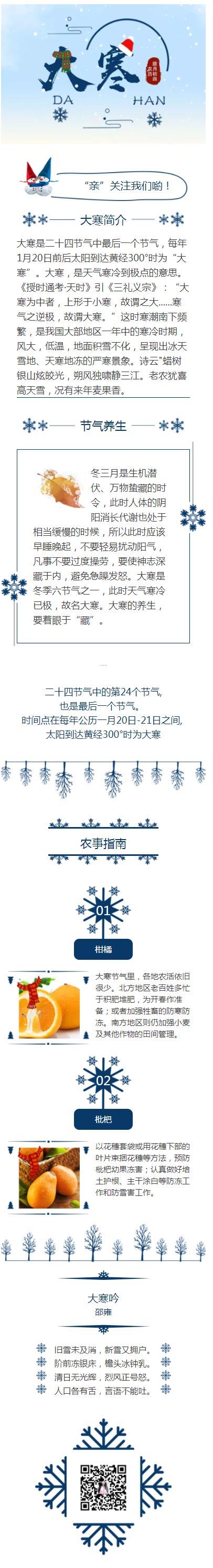 大寒二十四节气中国传统节日中国风