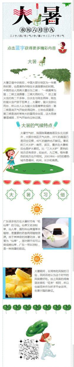 大暑中国传统节日二十四节气