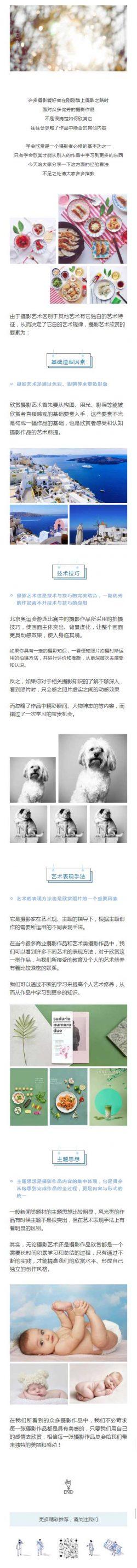 摄影爱好者图片作品介绍多图混排文章模板
