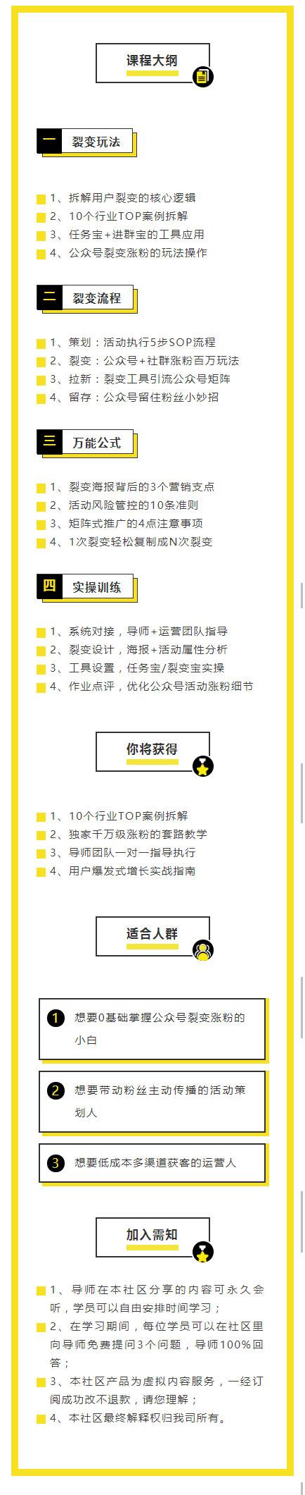 课程大纲微信营销模板黄色文章模板
