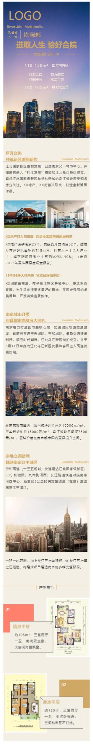 房地产商品房销售模板微信推文模板