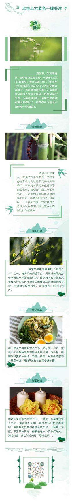 传统节日清明节春祭日子扫墓祭祖习俗绿色风格