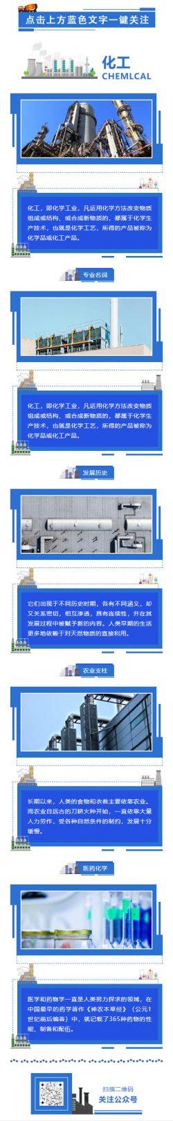 化工即化学工业蓝色工厂制造业微信模板推文素材