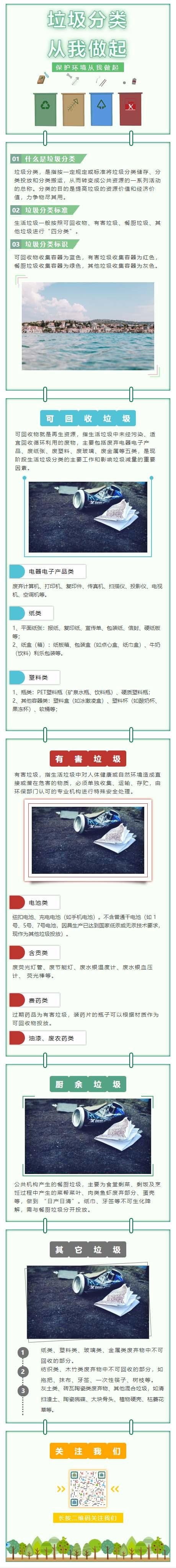 垃圾分类环境环保微信公众号素材模板绿色清新风格
