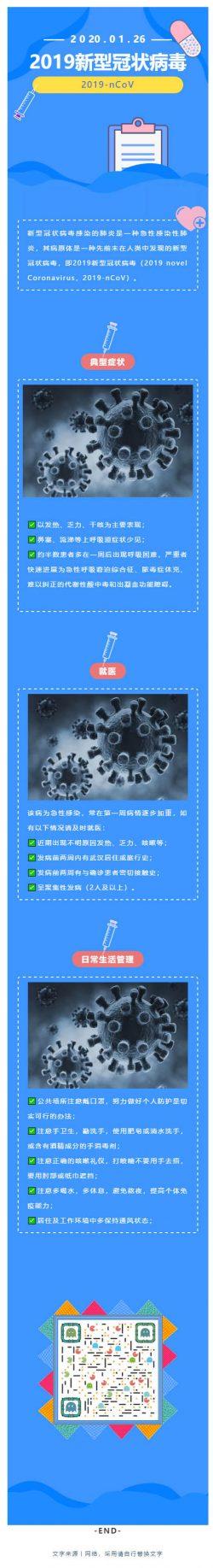武汉新型冠状病毒肺炎微信模板公众号推送文章素材推文