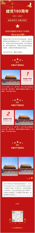 中国共产党建党100周年庆祝中国建党成立100周年建党节微信推文模板