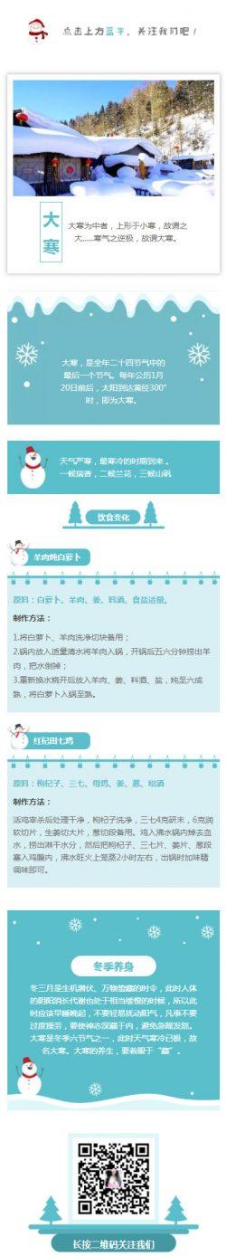大寒中国传统节日二十四节气中国风